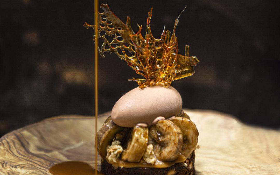 Okapi dessert on a plate